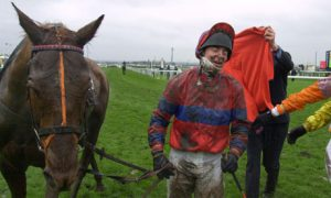 Red Marauder after winning the 2001 Grand National